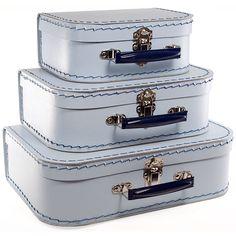 $12 Blue Large Mini Eco Suitcase
