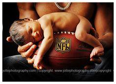 football baby photo