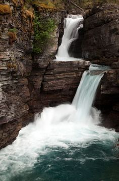 St. Mary's Falls is a fantastic destination for hikers in Glacier National Park in Montana.