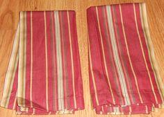 2 Pottery Barn Autumn Stripe Napkins 20 x 20 #PotteryBarn