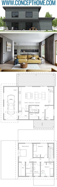 Small House Plan, Home Plans, Floor Plans Industrial Interior Design, Home Interior, Kitchen Interior, Dream House Plans, Small House Plans, Dream Home Design, Modern House Design, Livable Sheds, House Plans South Africa