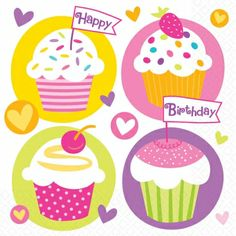 Not only are these cupcake party beverage napkins super cute and full of an abundance of bright, fun colors but they're also a great deal, only $1.49 from Parties2order! (Pack of 16). Also available in lunch napkins.