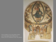 This is an example of a Romanesque wall painting in Spain.