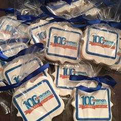 Celebrating 100 Years Rossman School - See more of our cookies at http://www.ctcookietreats.com