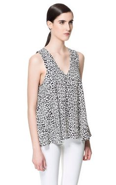 Black & White printed top from Zara