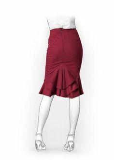 5928 PDF Personalized Skirt Pattern, Women Clothing
