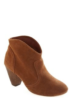 Rodeo So Refined Bootie in Brown | Mod Retro Vintage Boots | ModCloth.com - StyleSays