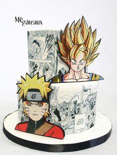 Naruto Birthday, Superhero Birthday Cake, Teen Birthday, Bolo Naruto, Teenager Party, Macarons, Anime Cake, Japanese Party, Manga Naruto