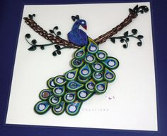 peacock quilling