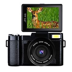 "Discounted Digital Camera Camcorder Full HD Digital Video Camera 1080p 24.0MP Retractable Flash Light 3"" Screen Video Recorder (bk1) … (YC12-FBA)"