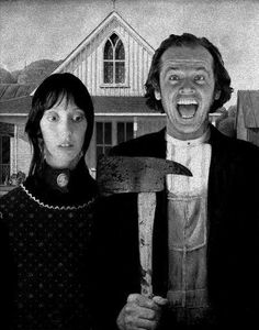 Shelly Duvall and Jack Nicholson, American Gothic In & # The Shining & # Style. Horror Filme Shelly Duvall and Jack Nicholson, American Gothic In & # The Shining & # Style Scary Movies, Horror Movies, Good Movies, American Gothic, American Horror, Stanley Kubrick, Desenhos Tim Burton, Monsieur Cinema, Film Mythique