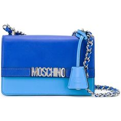 Moschino Letters shoulder bag ($1,025) ❤ liked on Polyvore featuring bags, handbags, shoulder bags, blue, leather shoulder bag, leather purses, genuine leather shoulder bag, moschino handbags and blue purse
