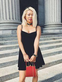 velvet fit & flare  #dress #velvet #fashion #style #photo #nyc #fashionweek