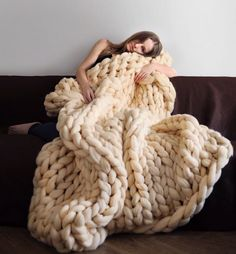 These blankets look gorgeous thrown over a couch, draped at the foot of your bed or even on one of those trendy blanket ladders.