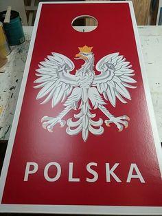 Polish Eagle cornhole boards #MotorCityCornhole #cornholeboards