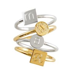monogram ring - perfectly priced for a grad gift