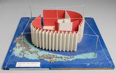 Guy ROTTIER-Maisons en carton, 1968-1969:    Cité de vacances à brûler après usage, 1969     Plan d'ensemble