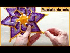 MANDALA de Linha Espiral 2 - Video Demonstrativo da Técnica - YouTube Jute Crafts, New Crafts, Diy And Crafts, God's Eye Craft, Origami, Kids Market, Boho Style Decor, Kids Background, Gods Eye