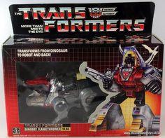 Transformers G1 Dinobot Flamethrower SLAG, Hasbro Takara 1984 Near Mint & Boxed
