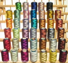 NEW THREADSRUS 40 Spools of SPARKLE Metallic Embroidery Threads for Machine Embroidery - 100% Polyester Threadsrus http://www.amazon.com/dp/B0070EAUP4/ref=cm_sw_r_pi_dp_Zxm-tb1N3G16Z