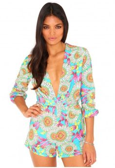 Madella Floral Print Playsuit - Jumpsuits and Playsuits - Playsuits - Missguided