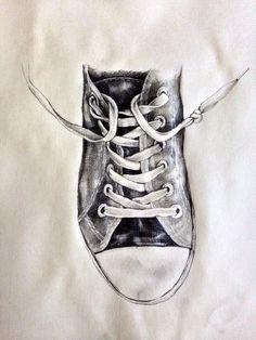 Pencil drawing. Basic. Sneaker. By Nolita Jpn