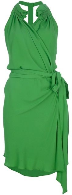 Vanessa-Bruno-Green-wrap-dress ♥✤ | Keep the Glamour | BeStayBeautiful