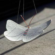 Porcelain butterfly by Wapa studio