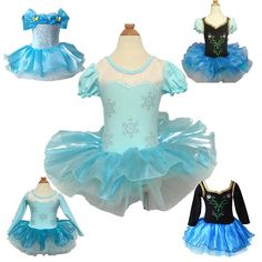 Girls Ballet Tutu Dancewear Party Skating Dress 2-8Y Kids Leotard Skirt Cosplay