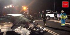 Dos hombres han fallecido anoche en un accidente de tráfico en el que se han visto implicados tres vehículos y que ha tenido lugar en la M-410 (Humanes). Sigue...