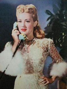 Betty Grable Gabbing On The Phone