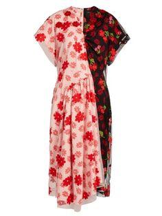 Floral-print tulle and crepe de Chine dress   Simone Rocha   MATCHESFASHION.COM