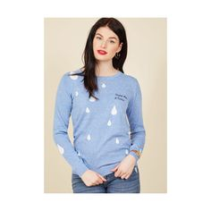 Sugarhill Boutique Boho Long Sleeve (3,015 DOP) ❤ liked on Polyvore featuring tops, sweaters, apparel, blue, pullover, sports sweaters, long sleeve pullover, embroidered top, boho sweaters and bohemian sweater
