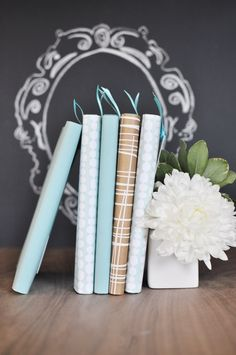 Zero Dollar Decorating! • Tips, Ideas & Tutorials! Including this decorative paper book cover project from 'twig and thistle'.