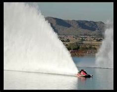 IHBA Drag Boat racing - massive rooster tail