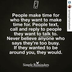 #Repost @iamsophianelson with @repostapp. People (all of us) will always make time in our lives for who and what we value. (Let that sink in). So pay attention not to what people SAY but what they DO. Stop making excuses for people. Stop letting people break your heart. Stop letting people violate your spirit. Stop accepting their lame excuses. Stop chasing after people who don't want to be caught. Stop. Stop. Stop. People call back who they want to. They text who they want to. They make…