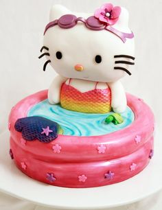 hello kitty mermaid cake | Annie loves turtles so of course, there has to be a turtle!