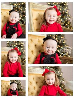 Sisters | Winter Studio | Family | Baby | Toddler | Big Sister | Little Sister | Brittany Gidley Photography LLC