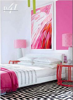 Pink Bedroom. More lusciousness at http://mylusciouslife.com/luscious-bedrooms/