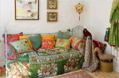 love this day bed with all the cozy colors. Perfect spot to curl up with a book