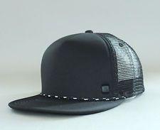 New Auth Quiksilver Upper Trucker Ball Hat Visor Snapback Cap Surf Skate Black