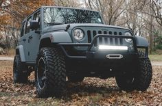 "This bad boy comes custom with a anvil kevlar spray, 4"" lift, 20"" LED light bar, aftermarket tires and full-sized spare tire. Whether you are a jeep lover, or just someone that wants more than just a new car, this 2015 Jeep Wrangler Sahara from Zeck Ford is sure to fill all our wildest dreams!"