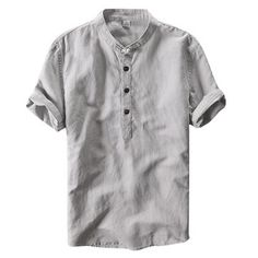 Chinese Style Linen Vintage T Shirt