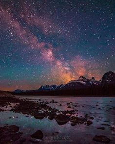 Explore Jasper in a whole new light - the light of the moon and stars  2016 Jasper Dark Sky Festival link in bio.  Photo by @rockymountainscrambler  #MyJasper