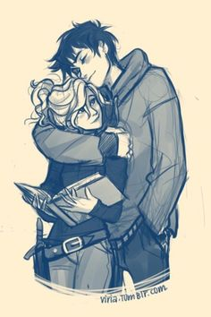 oh my gosh! i love drawings of Percy Jackson and Annabeth Chase!