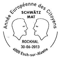 Sonderstempel zum Dialog mit der Politik: http://d-b-z.de/web/2013/06/25/luxemburg-schwatzt-mit-auf-sonderstempel/