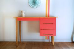 Restauration bureau bois customisation meuble