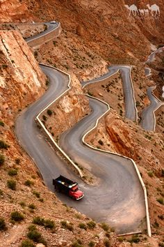 Winding road in the Dades Gorge, Morocco