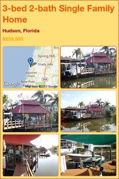 3-bed 2-bath Single Family Home in Hudson, Florida ►$239,500 #PropertyForSale #RealEstate #Florida http://florida-magic.com/properties/2043-single-family-home-for-sale-in-hudson-florida-with-3-bedroom-2-bathroom
