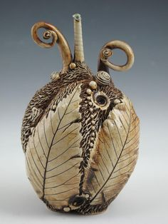 """I can't get enough of Carol Long's art! This one is """"Bottle with Elm""""."""